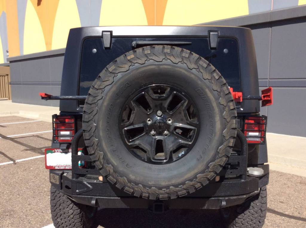 F on Jeep Rear Bumpers With Tire Carrier
