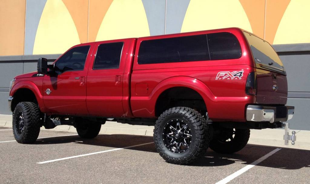 """2015 FORD F350 SUPERDUTY BDS 6"""" SUSPENSION LIFT 37"""" TOYO M/T TIRES"""