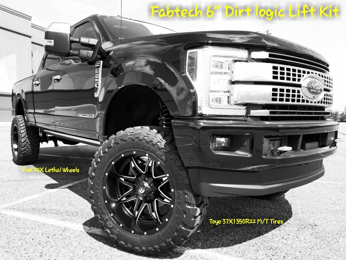 2017 Ford F250 Super Duty Fabtech Motorsports 6 4 Link Conversion W Fuel Off Road Wheels And Toyo M T S Build 80248