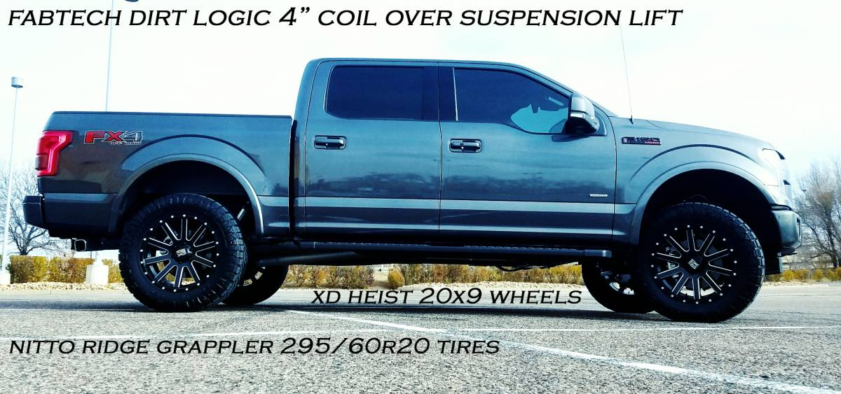 2017 Ford F150 Fx4 Fabtech 4 Suspension Lift Dirt Logic Coil Overs