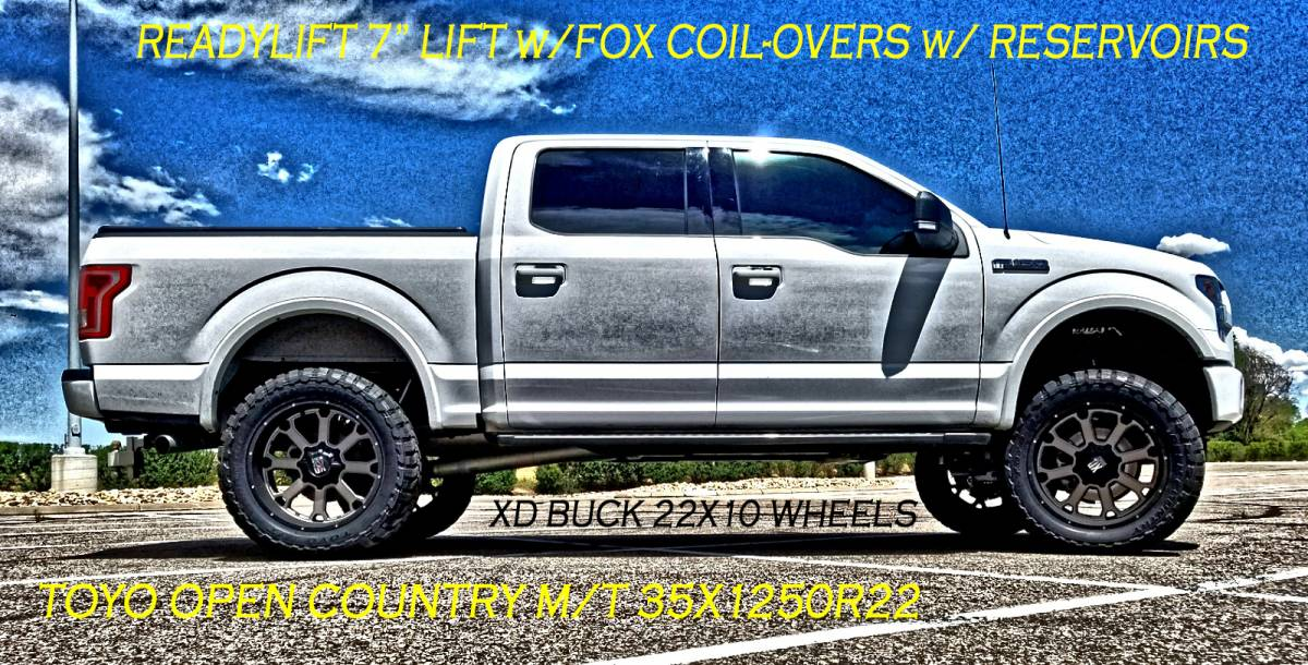2016 Ford F150 Readylift 7 Suspension Lift Fox Coil Overs