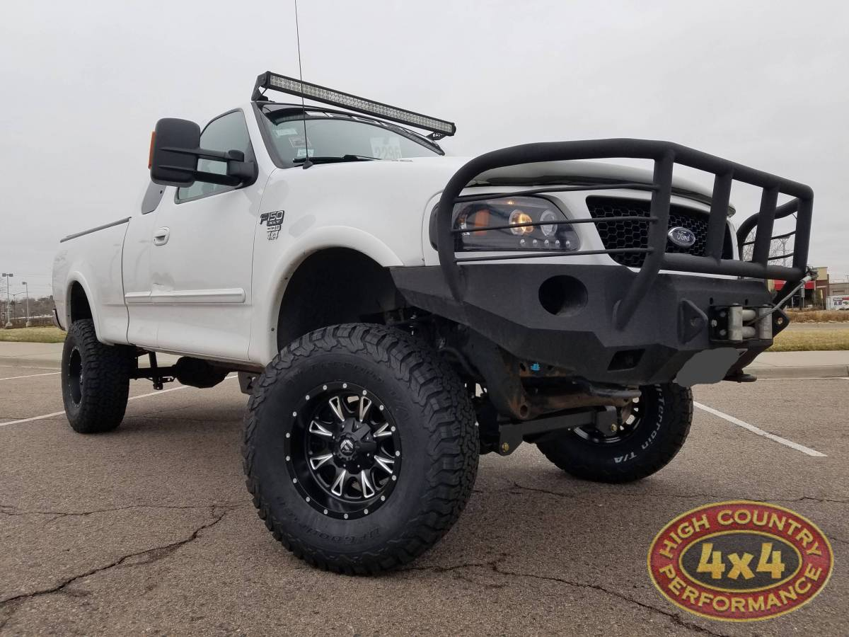 2000 ford f150 zone offroad 6 suspension lift on 35 bfg a t ko2 tires build85636