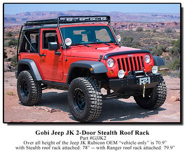 Jeep Jku Roof Rack >> GOBI Jeep Wrangler JK 2 Door Roof Rack