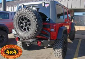 "HCP 4x4 Vehicles - 2011 TERAFLEX 3"" SUSPENSION POISON SPYDER REAR BUMPER & AEV TIRE CARRIER"