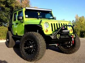 "HCP 4x4 Vehicles - 2013 JEEP JKU TERAFLEX 4"" ELITE LCG LONG FLEXARM SUSPENSION ON 38"" TOYO M/T TIRES AND FUEL KRANK WHEELS"
