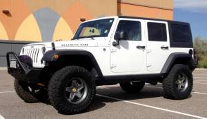 """HCP 4x4 Vehicles - 2014 JEEP JKUR AEV 3.5"""" DUAL SPORT SC SUSPENSION ON 35"""" TOYO MT'S AND AEV PINTLER WHEELS WITH POISON SPYDER BUMPERS"""