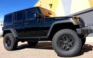 "HCP 4x4 Vehicles - 2016 JEEP JKU WILLYS EDITION AEV .5"" SC SUSPENSION ON 37"" BFGOODRICH A/T KO2 TIRES TERAFLEX HD TIRE CARRIER"