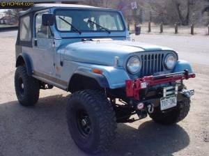 "HCP 4x4 Vehicles - CJ7 w/ 2.5"" BDS suspension, PSC Rocker Knockers, Bestop Super Top, WARN winch."