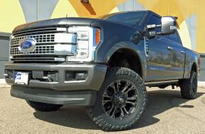HCP 4x4 Vehicles - 2017 Ford Super Duty F350 Platinum Ready lift Level, Fuel wheels and Toyo M/T tires. Build #79447