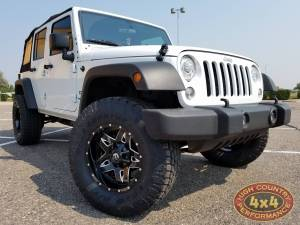 "HCP 4x4 Vehicles - 2017 JEEP JKU AEV 2.5"" SUSPENSION ON 35"" TOYO OPEN COUNTRY ATII TIRES (BUILD#82299) - Image 1"