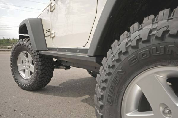 "AEV 3.5"" lift, front & rear bumpers, Teraflex sliders"