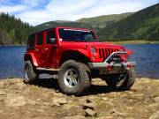 "2014 AEV 4.5"" RS Suspension, 37"" BFG AT KO 2 Tires, Hanson Bumpers Cover"