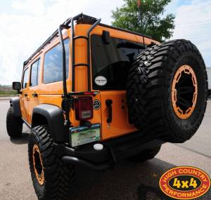 AEV Rear Bumper wth Tire Carrier and Gobi Rack