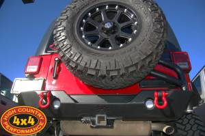 "2011 TERAFLEX 3"" SUSPENSION POISON SPYDER REAR BUMPER & AEV TIRE CARRIER"
