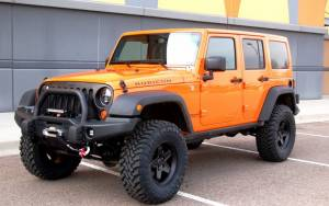 "2013 JEEP JKUR AEV 3.5"" DUAL SPORT SUSPENSION ON 35"" TOYO M/T TIRES AND AEV PINTLER WHEELS WITH AEV BUMPERS"