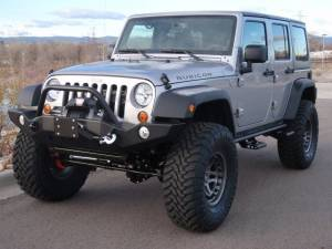 "HCP 4x4 Vehicles - 2013 JEEP JKUR AEV 4.5"" DUAL SPORT SUSPENSION ON 37"" TOYO M/T TIRES AND HUTCHINSON BEADLOCKS WITH EXPEDITION ONE BUMPERS (BUILD#48326) - Image 1"