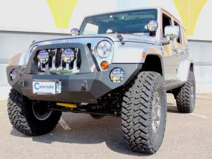 """2013 JEEP JKUR AEV 4.5"""" DUAL SPORT SUSPENSION ON 37"""" NITTO TRAIL GRAPPLER TIRES WITH ROCK-SLIDE ENGINEERING BUMPERS"""