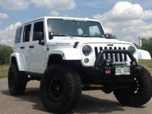 "2014 JEEP JKUR AEV 3.5"" DUAL SPORT SUSPENSION ON 35 TOYO M/T'S WITH ARB BUMPERS & TERAFLEX TIRE CARRIER"