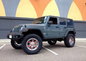 "HCP 4x4 Vehicles - 2014 JEEP JKU AEV 4.5"" DUAL SPORT SUSPENSION ON 37"" TOYO R/T TIRES WITH 20"" MOTO METAL WHEELS - Image 3"