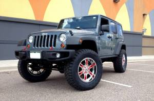 "HCP 4x4 Vehicles - 2014 JEEP JKU AEV 4.5"" DUAL SPORT SUSPENSION ON 37"" TOYO R/T TIRES WITH 20"" MOTO METAL WHEELS - Image 1"