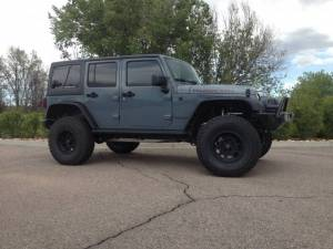 "2015 JEEP JKU AEV 4.5"" RS SUSPENSION ON 37"" BFGOODRICH A/T KO2 TIRES AND XD ENDURO WHEELS WITH RSE FENDERS"