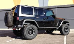 "2016 JEEP JKU AEV 3.5"" DUAL SPORT SUSPENSION ON 35"" BFGOODRICH AT KO2 TIRES AND ATX CORNICE WHEELS"