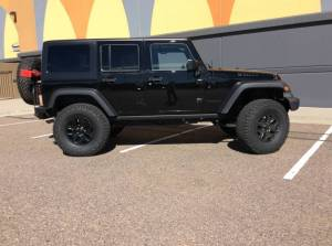 "2016 Willys Edition AEV 3.5"" SC Suspension, 37"" BF Goodrich AT KO2 Tires, Teralex Tire Carrier"