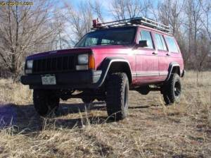 "HCP 4x4 Vehicles - 2001 JEEP CHEROKEE XJ 4.5"" BDS SUSPENSION WITH GARVIN WILDERNESS RACK - Image 1"