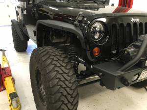"HCP 4x4 Vehicles - 2016 JEEP JKU AEV 4.5"" SC SUSPENSION ON 37"" TOYO M/T'S & FUEL WHEELS WITH JCR ARMOUR - Image 8"