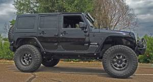 """2016 JEEP JKU AEV 4.5"""" SC SUSPENSION ON 37"""" TOYO M/T'S & FUEL WHEELS WITH JCR ARMOUR"""