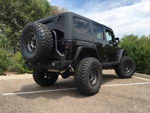 "HCP 4x4 Vehicles - 2016 JEEP JKU AEV 4.5"" SC SUSPENSION ON 37"" TOYO M/T'S & FUEL WHEELS WITH JCR ARMOUR - Image 6"