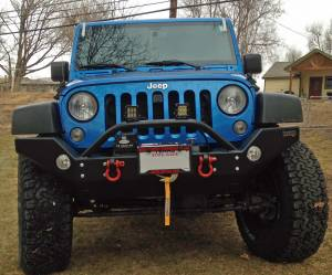 "2015 JEEP JKUR AEV 4.5"" DUAL SPORT SUSPENSION ON 37"" BFGOODRICH A/T KO2 TIRES AND FUEL TROPHY WHEELS WITH HARD ROCK BUMPERS (BUILD#78673)"
