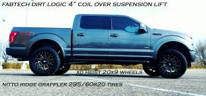 "HCP 4x4 Vehicles - 2017 FORD F150 FX4 FABTECH 4"" SUSPENSION LIFT DIRT LOGIC COIL-OVERS W/ RESERVOIRS (BUILD#83601) - Image 2"