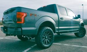 "2017 FORD F150 FX4 FABTECH 4"" SUSPENSION LIFT DIRT LOGIC COIL-OVERS W/ RESERVOIRS (BUILD#83601)"