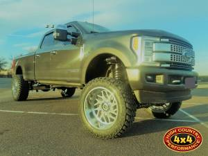 2017 FORD F350 CUSTOM FABTECH 8 COILOVER SUSPENSION W/ FUEL FORGED WHEELS ON NITTO TRAIL GRAPPLERS (BUILD#83590)