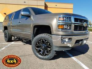 "GMC / CHEVROLET - CHEVY / GMC 1500 PICKUPS (2014-2018) - HCP 4x4 Vehicles - 2014 CHEVY SILVERADO 1500 RANCHO 4.5"" SUSPENSION LIFT KIT (BUILD#8374)"