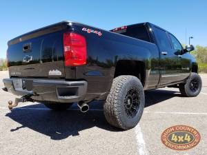 "2014 CHEVY HD2500 FABTECH 4"" SUSPENSION LIFT NFAB NERF BARS (BUILD#80398)"