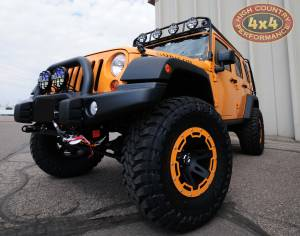 """2012 JEEP JKUR AEV 3.5"""" DUAL SPORT SUSPENSION ON 37"""" TOYO M/T TIRES AND RUGGED RIDGE WHEELS WITH AEV BUMPERS AND GOBI ROOF RACK (BUILD#46696)"""