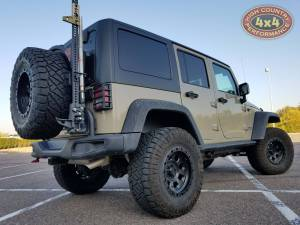 """2017 JEEP JKUR AEV 3.5"""" SUSPENSION WITH AEV TIRE CARRIER AND 35"""" NITTO TRAILGRAPPLERS (BUILD#82562/80320)"""