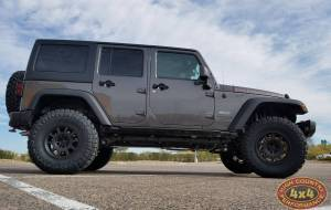"2017 JEEP JKU AEV 3.5"" RS SUSPENSION WITH RESERVOIRS ON 35"" TOYO M/T TIRES (BUILD#83569)"