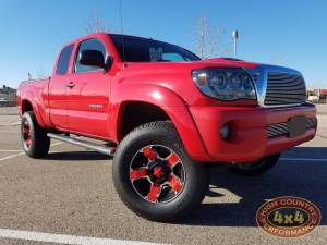 """HCP 4x4 Vehicles - 2006 TOYOTA TACOMA TOYTEC BOSS 3"""" COILOVER SUSPENSION ON RED ROCKSTAR WHEELS (BUILD#62888)"""