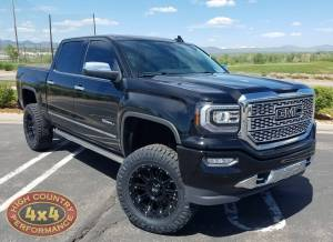 "GMC / CHEVROLET - CHEVY / GMC 1500 PICKUPS (2014-2018) - HCP 4x4 Vehicles - 2018 GMC SIERRA 1500 FABTECH 6"" SUSPENSION LIFT ON 35"" NITTO RIDGEGRAPPLERS (BUILD#86404)"