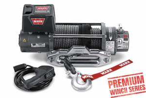 Recovery  - Winches - WARN - WARN M8000 w/ Spydura Synthetic Rope