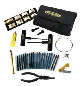 Inflation Systems - Powertank - POWERTANK Tire Repair Kit in Roll-Up Bag