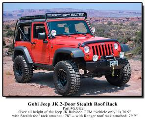Roof Racks - Gobi - GOBI - GOBI Jeep Wrangler JK 2 Door Roof Rack