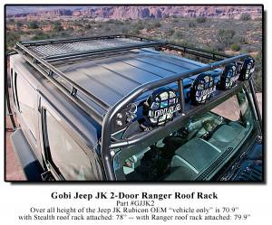 Gobi Jeep Wrangler Jk 2 Door Roof Rack